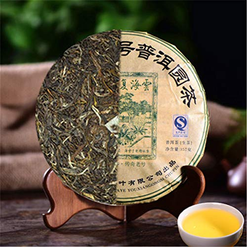 357g (0,787LB) Yunnan Seven Son tè crudo di Pu'er Sheng Vecchio tè di Puer Tè verde Tè di Pu-erh Tubo di drago Tubo di bambù Tè di erh Tè cinese Tè di Puerh sano Verde Buono Sheng cha