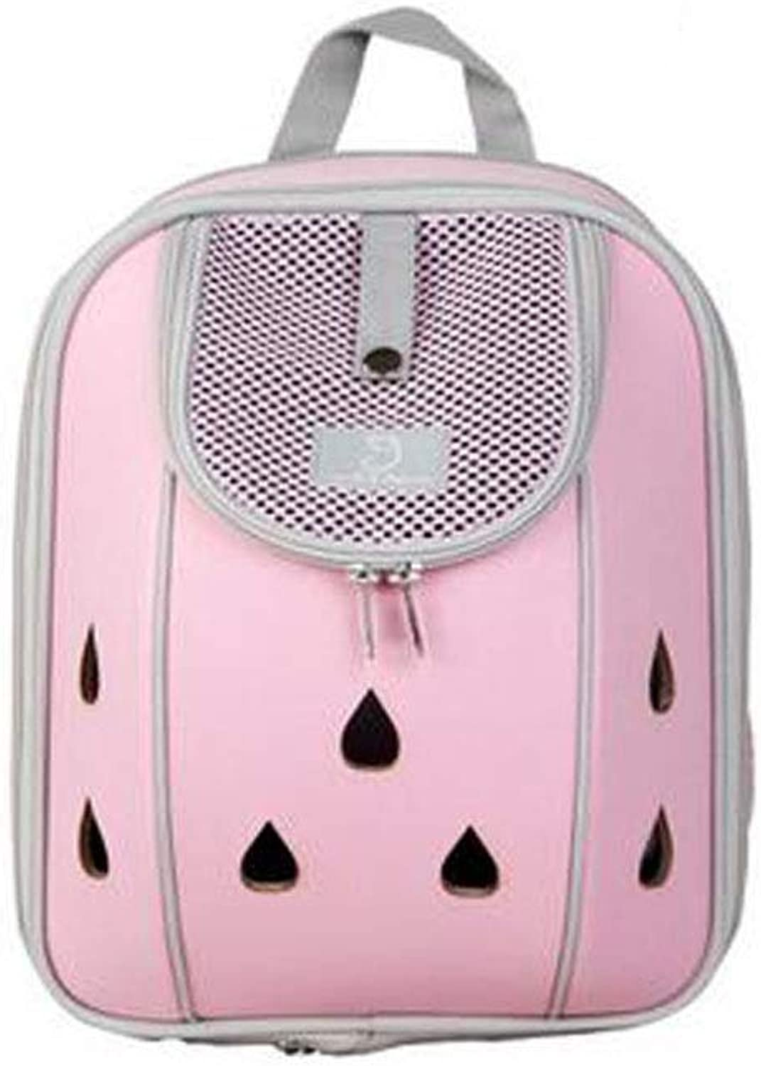 Chenjinxiang01 Lightweight Pet Bag, Pet Carrier Suitable For Outdoor Travel, Leisure, Pet Bag Teddy, Cat Out Bag,Black, bluee, Pink (color   Pink)
