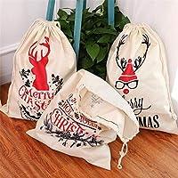 JJKEDW クリスマス大リネンのギフトバッグクリスマスプレゼントキャンディバッグサンタクロース袋キャンディバッグクリスマスの装飾 (Style : D)
