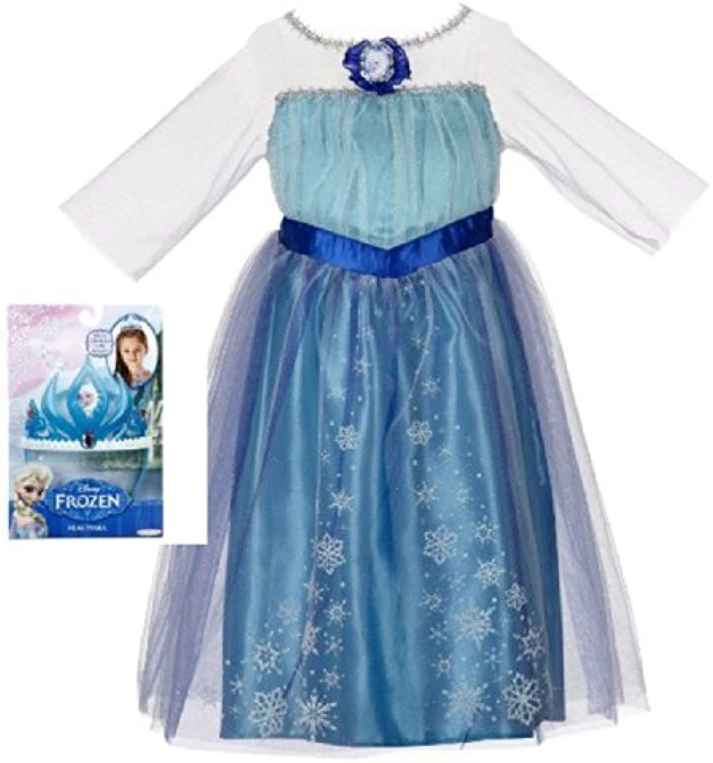 ¡no ser extrañado! Disney Frozen Elsa Dress and and and Tiara Costume by Disney  ventas al por mayor