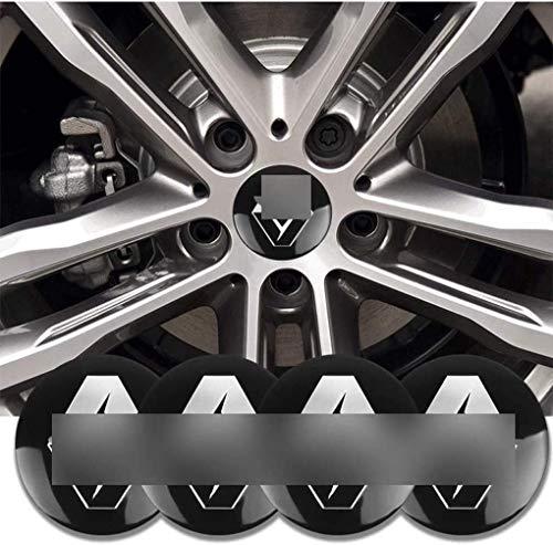 4 Piezas Coche Tapas centrales, para Renault Captur Kadjar Fluence Koleos Car Pegatina Centrales Tapones Mediados Tapas