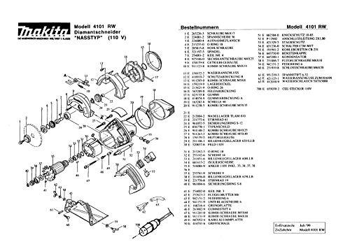 Makita 212004-2-2018 naaldlager TLAM 810, origineel reserveonderdeel 4101 RW