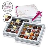 Pott au Chocolat Gourmet-Set - Geschenk-Box mit 32 Pralinen, handgemacht aus hochwertigem Edel-Kakao und frischen Zutaten - perfekt für jeden Anlass, als Dankeschön, liebe Gäste, die...