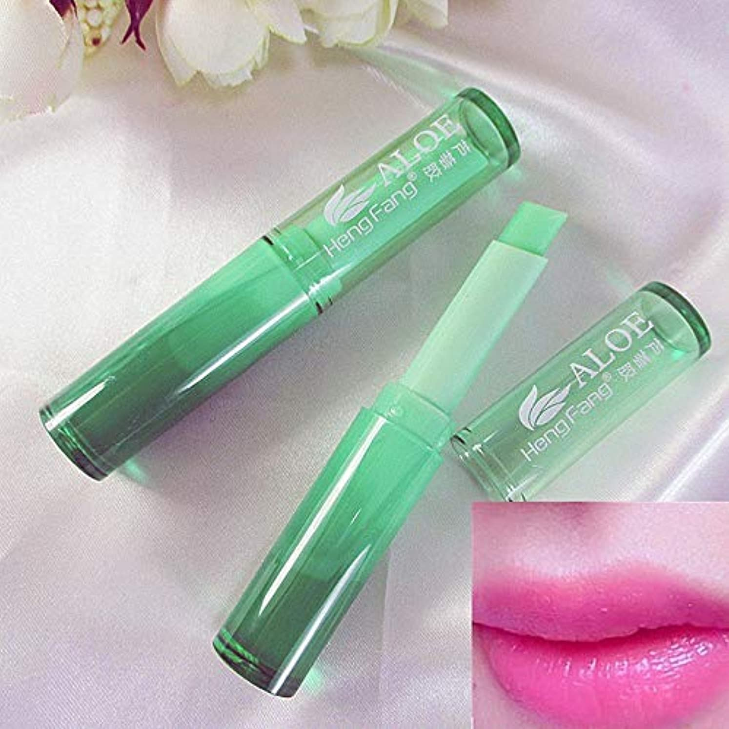 警察署先結晶LEARNEVER new Lip balm beauty Hydrating Fruity Smell charm lip Changeable Color lip cream waterproof Cosmetic Makeup Lipstick
