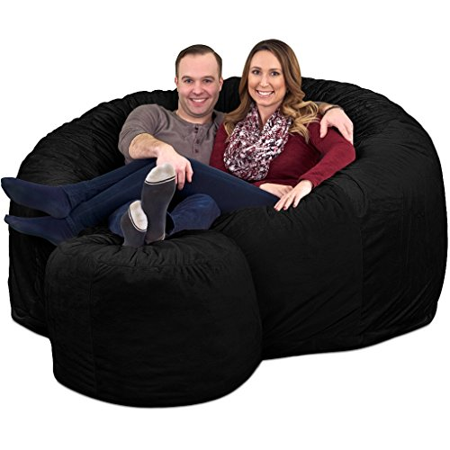 Ultimate Sack 6000 Bean Bag With Foot Stool