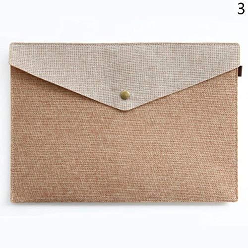 FSHB A4 A5 2 Größen Nachahmung Leinen Leinwand Datei Filz Ordner Briefpapier Portfolio Studie Tasche Tasche Büro Briefpapier, A4 Kaffee