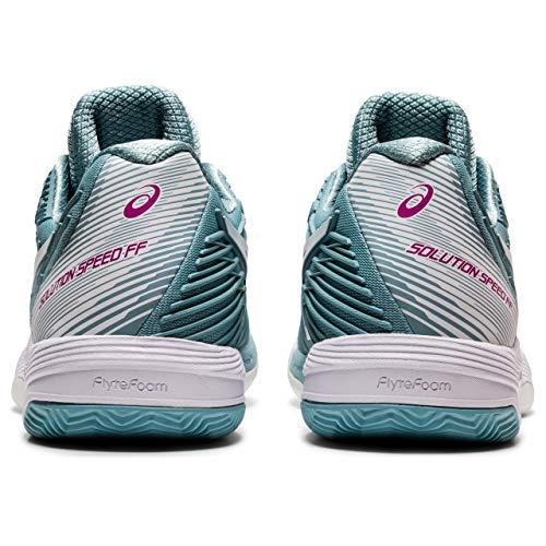 ASICS Solution Speed FF 2 Clay, Zapatillas de Tenis Mujer, Smoke Blue White, 40 EU