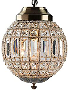 Retro Vintage Royal Empire Ball Style Big Led Crystal Moderna Lámpara De Araña Lustres Luces E27 Sala De Estar Dormitorio Baño (small)
