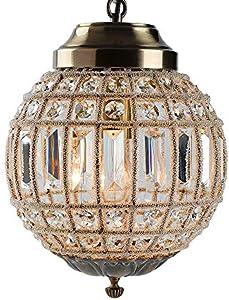 Retro Vintage Royal Empire Ball Style Big Led Crystal Moderna Lámpara De Araña Lustres Luces E27 Sala De Estar Dormitorio Baño (small)