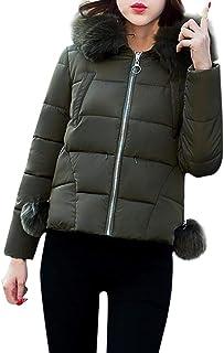 8e43bcef77 Battercake Doudoune Femme Hiver Épaissir Chaud Quilting Blouson avec  Capuchon Fourrure Slim Fit Mode Chic Doudoune