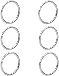 JOFUKIN Seamless Nose Rings Hoop Septum Ring Piercing Earrings for Women for Helix Daith Rook Tragus Conch Lip Men's Body ...