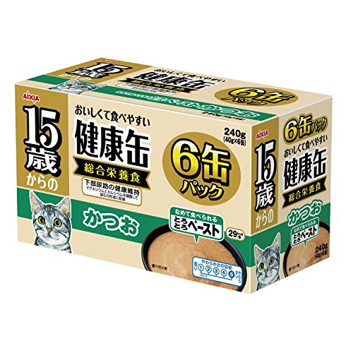 健康缶15歳からの健康缶6Pとろとろペーストかつお40g×6缶