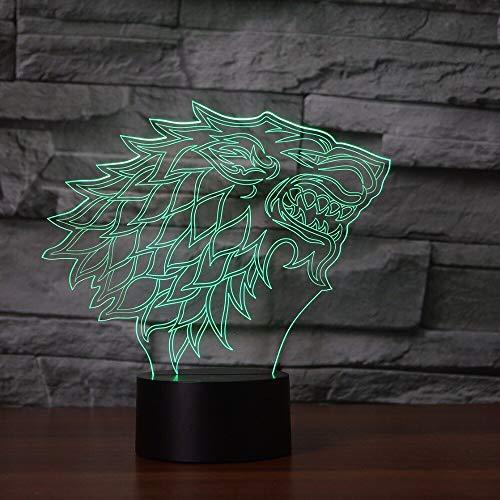 Jiushixw 3D acryl nachtlampje met afstandsbediening kleurverandering tafellamp serieuze leeslamp Paradoni Dragon Ball driedimensionale lamp creatieve tafellamp sfeervolle slaapkamer
