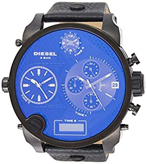 Diesel - DZ7127 - Montre Homme - Quartz Analogique - Digital - Chronomètre - Bracelet Cuir Noir (B002JJWBT8)   Amazon price tracker / tracking, Amazon price history charts, Amazon price watches, Amazon price drop alerts
