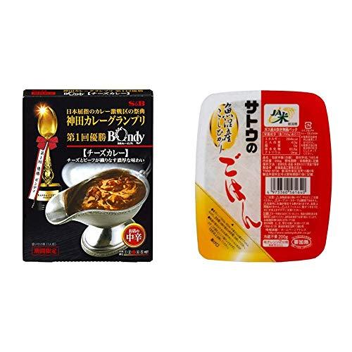 【セット販売】神田カレーグランプリ 欧風カレーボンディ チーズカレー お店の中辛 180g×5個 + サトウのごはん 魚沼産こしひかり 200g×6個