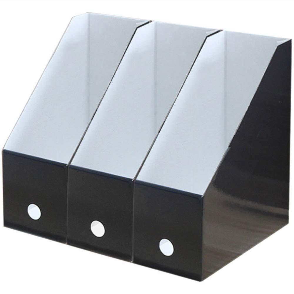 TXYJ Oficina 3 Niveles Caja de Almacenamiento de Escritorio de Papel Kraft A4 Organizador de Papel de Soporte de Documentos para Oficina en casa Caja de Almacenamiento de Archivos de Papel: Amazon.es: