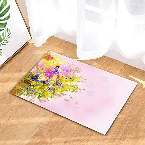 rrrrrr Flower Cosmos Plant Mimosa Camomiles Pink Shower s,Franela de Ante suavedurable Resistente al Moho s para baño