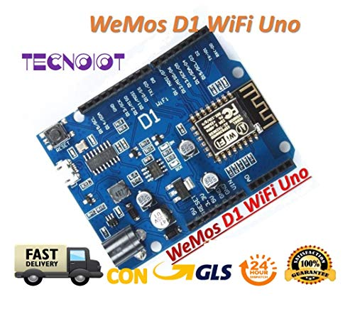 TECNOIOT ESP-12F WeMos D1 WiFi Based ESP8266 for Compatible IDE