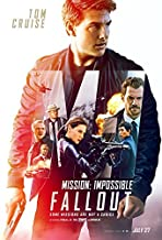 Mission: Impossible - Fallout Movie POSTER 27 x 40 Tom Cruise, Rebecca Ferguson, B, MADE IN THE U.S.A.