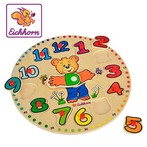 Eichhorn - 100005456 - Horloge éducative en Bois - 13 pièces