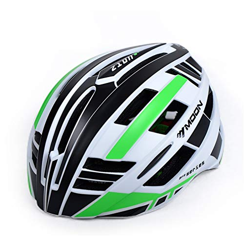 ZWYY Fahrradhelm, Sport Cycling Helm Riding Racing Protection Safety Helm Männer Frauen Atemschutzhelm Road Skating,Green