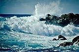 Descompresión Para Adultos 1000 Piezas Splash Waves Montaje De Madera Decoración Para El Hogar Juego De Juguetes Juguete Educativo Para Niños Y Adultos Regalo