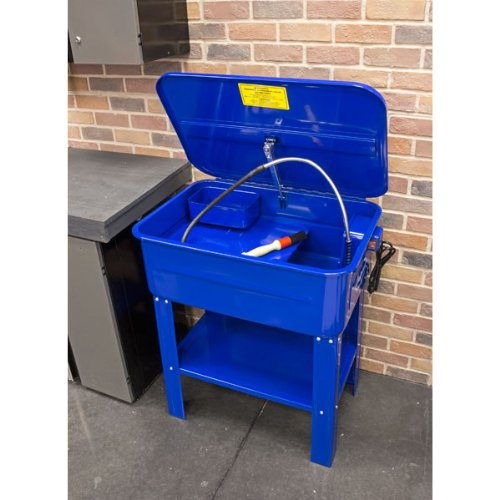 Blue and carburetors Gears Red Sun Parts Washer 3.5 Gallon Capacity Tank Cabinet Electric Solvent Pump/&Brush Protable Automotive Parts Cleaner for Wheel Bearings