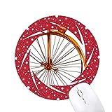 昔ながらの自転車高・ウィーラー・ブリテン 円形滑りゴムの赤のホイールパッド