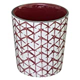 iDiffusion - Tazza design Shibori da 190 ml, colore: Rosso