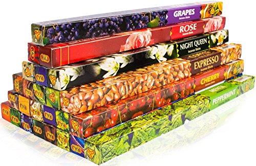 Luxflair Sticks de Incienso de la India XXL Set de 25 variedades Diferentes, p. Nag Champa,...