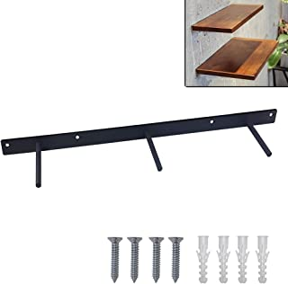 FRMSAET Heavy Duty 24/32/44 inches Wall Floating Shelf Bracket Steel Invisible Hidden Wooden Shelf Supports Hardware Decorative Brackets- Screws and Wall Plugs Included (32 inches, 1 Pack)