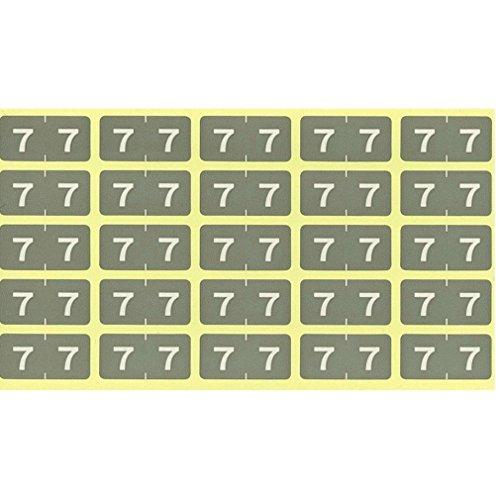 リヒトラブ カラーナンバーラベル M 250片入 HK7753-7