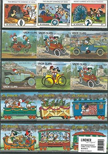 Lindner Briefmarkenpaket 89813: Comic & Walt Disney (100 Briefmarken)