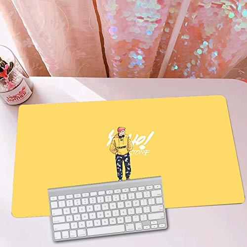 Gaming-Muismat Eenvoudig, Supergroot Bureau-Pad, Dik, Duurzaam Gestikte Randen, Toetsenbord, Polssteun-Pad Voor Computer, Laptop, Kantoor-Pc, Enz,E,1200x600mm