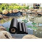 HDPE-Teichfolie Gummiteichfolie Garten Brunnen Verbesserungsfilm Sanft Federnd Reißfestigkeit Plane, Anpassbar (Color : Black, Size : 1x100m)