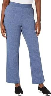 Karen Scott. Side-Pocket Active Fleece Pants Heather Indigo Size XL