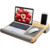 Lap Desk - Fits up to 17 inches Laptop Desk, Built in Mouse Pad & Wrist Pad for Notebook, MacBook, Tablet,...