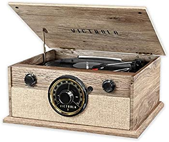 Refurb Victrola Wood Bluetooth Mid Centry Record Player
