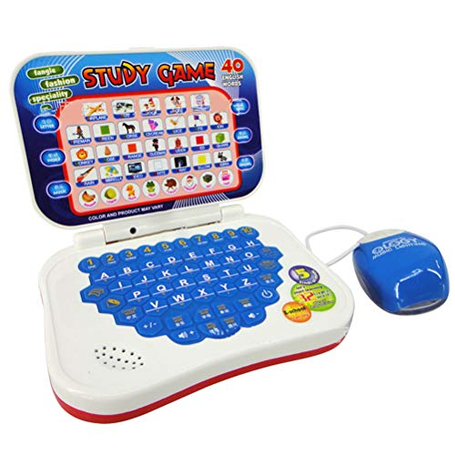 KUANPEY Multifunctional Bilingual Learning Machine for Kids Study Toy Mini Laptop Computer Toy Baby Early Educational Toy Gift