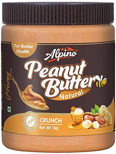 Alpino Natural Honey Peanut Butter Crunch 1 KG (Gluten Free / Non-GMO...