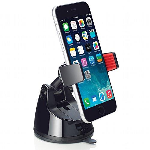 Osomount 360 Grip Universal KFZ Halterung für iPhone 6.6 Plus / 5S / 5C / 4 / 4S Samsung Galaxy S5 / S4 / S3 / Note 4/3 & andere Smartphones - Schwarz (360 Flex Schwarz)