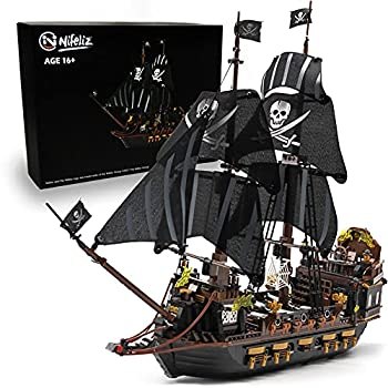 Nifeliz Black Hawk Pirates Ship Model Building Blocks Kits - Construction Set to Build Model Set and Assembly Toy for Teens and Adult,Makes a Great Gift for People who Like Creative Play  1352Pcs