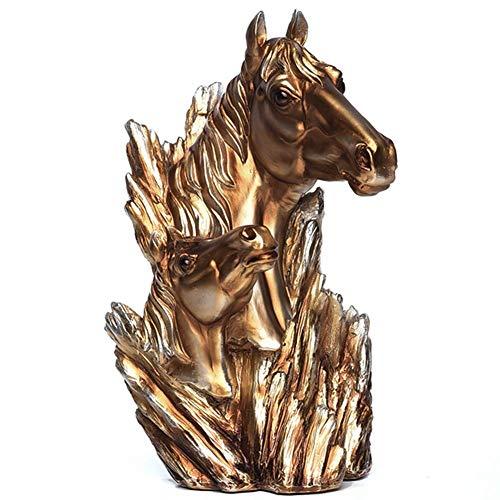 Posągi i rzeźby z głową konia z żywicy, ozdoba kolekcjonerska figurka Craft Meble do domu Décor Farm House Salon Ganek Biurko Biurko Stół, prezent, A
