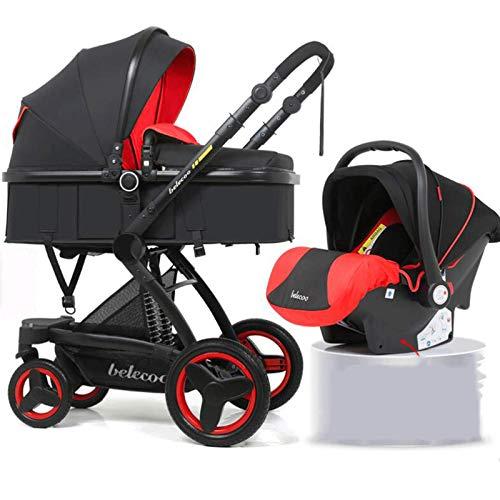 Hacrft Kinderwagen mit Mehrzweck-Schlafkorb, Kinderwagen 2-in-1 Set, Baby-Kinderwagen mit abnehmbarem und...
