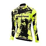 Uglyfrog #02 Bike Wear Invierno Fleece Warm Jersey de Ciclismo Extrema Designs, de Manga Larga, Ajuste Slim Fit, Camiseta de MTB