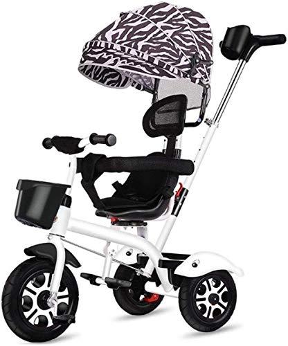 Pushchairs Kindertrikes 4-in-1 ouderduwen driewieler voor kinderen verstelbare stoel met luifel duwhandvat groei-met hoofd voor 1-6 jaar Ouderen driewielers peuter Bike Baby producten
