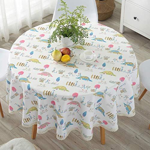 YI KUI nappes Pad Nappe Ronde - étanche Huile erbrühschutz résistant à Petite Table Ronde - Mixte - matériel de qualité est Facile à Nettoyer 110 * 110cm