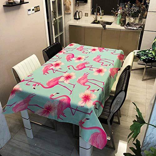 N/ Manteles Inicio Mantel Grueso Lino Rosa Impermeable Impermeable Rectangular Boda Mesa de Comedor Cubierta Paño de Mesa de té