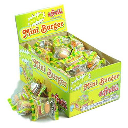 E.Frutti, Sour Mini Burger Gummi, Count 60 (0.31 oz) - Sugar Candy /...