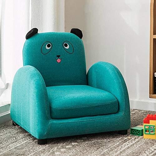 Asiento del sofá para niños Dibujos Animados niño niña Princesa bebé bebé Aprender a Sentarse en el Asiento del sofá Lectura Linda Tatami-Tela Azul Panda sofá reclinable